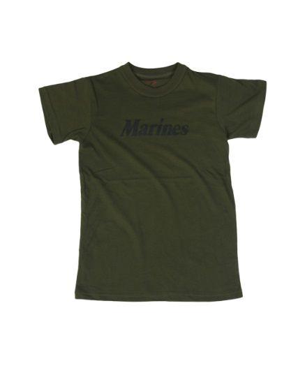 Kids Green Marines T-Shirt: Start boot camp early in this kids Marine tshirt! The green Marine t-shirt for… #TShirts #CustomShirts #BandTees