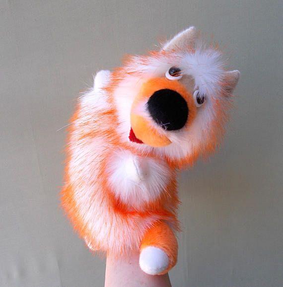 Fox. Bibabo. Toy on hand. Toy glove. Puppet theatre.