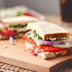 Copycat Panera Bread Mediterranean Veggie Sandwich--Because some of us live an hour away. #foodgawker