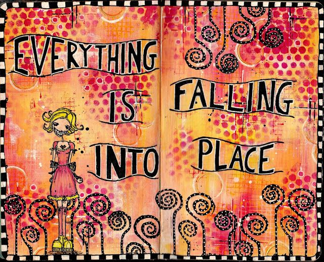 Artful Evidence: Art Journal Page - Falling Into Place