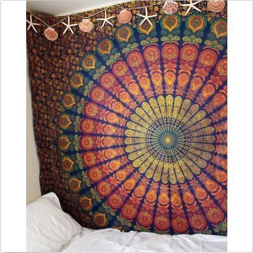 Indian Ethnic Mandala Wall Hanging Tapestry Bohemian Dorm Throw Hippie Bedspread