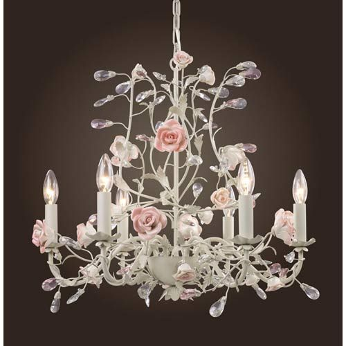 So danty, love!  Totally picture this over the breakfest table with my vitage rose dishes and glassware on display
