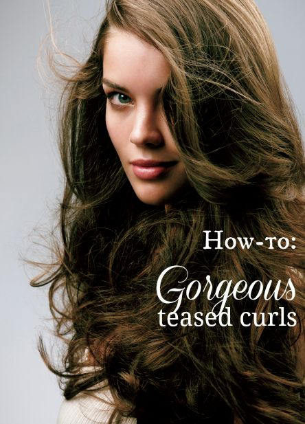 How to get gorgeous teased curls