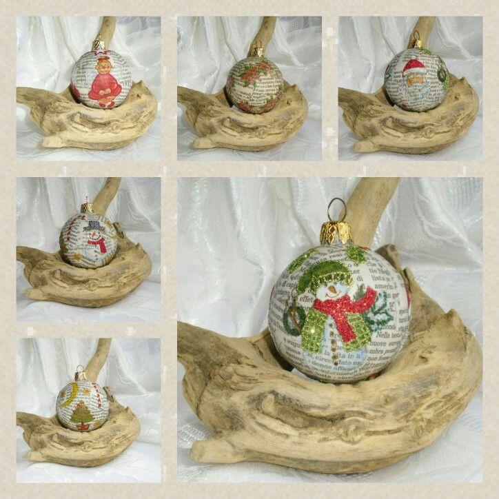 222 best handmade decorazioni per l 39 albero di natale images on pinterest labrador labrador - Decorazioni decoupage ...