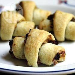 Rugelach (petits croissants) sans sucre