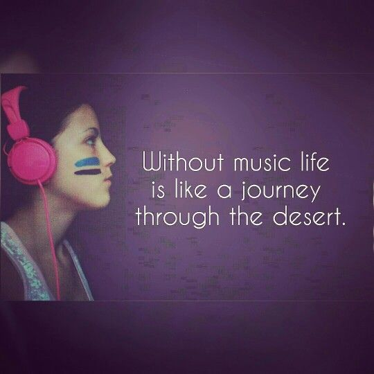 Without music life is like a journey through the desert.  ~♪♬♩~