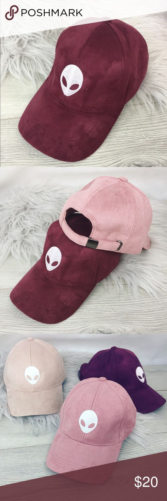 Maroon Alien Bae Vegan Suede Dad Hat Maroon Alien Bae Vegan Suede Dad Hat. This posting is for the maroon Dad Hat. NWT. Adjustable, one size fits most! Not UNIF tagged for exposure UNIF Accessories Hats