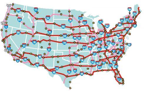 Map Of Interstates  My blog