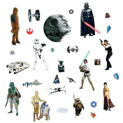 Star Wars peel-&-stick wall decals $11.: Classic Peel, Wall Decals, Stars War, Star Wars, Sticks Wall, Roommate Rmk1586Scs, War Classic, Rmk1586Scs Stars, Starwars