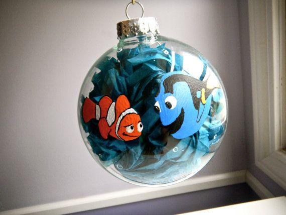 Finding Nemo Inspired Christmas Ornament Disney Pixar Dory and Marlin