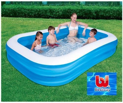 Large Rectangular Family Swimming Pool Blow Up Inflatable Garden Paddling NEW BN in Toys & Games, Outdoor Toys & Activities, Paddling Pools | eBay