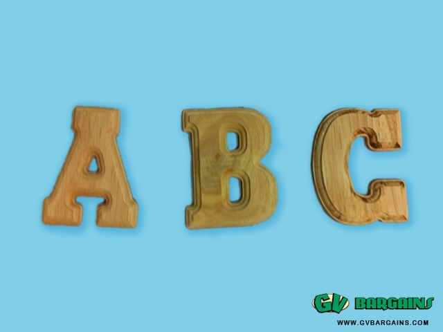 Oaken Wooden Alphabet letters Kids Craft_Daily use_GV Bargains : SPECIALS