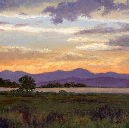 Sunset - Dennis Tasa - Oil on linen - 18 x 18 - www.dennistasa.com