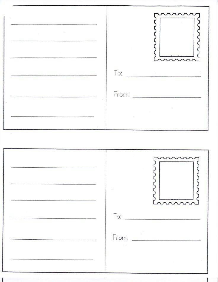 Sparklebox postcard template