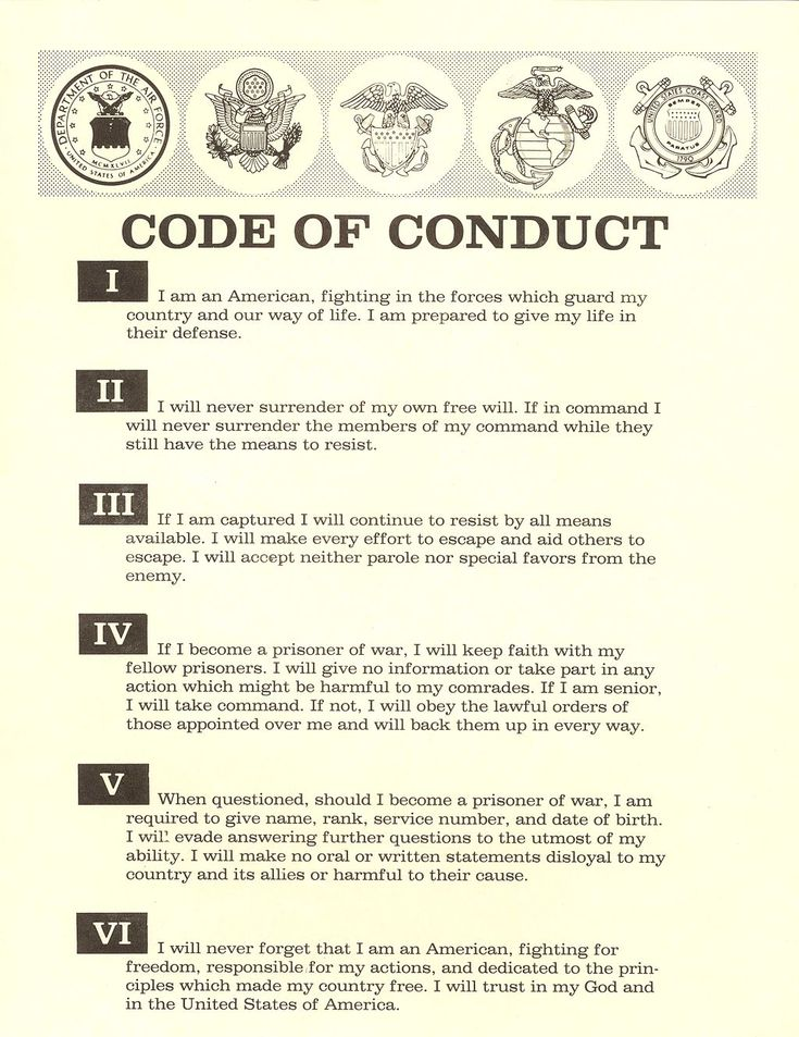 Military code of conduct on Pinterest Knights middle ages - code of conduct example