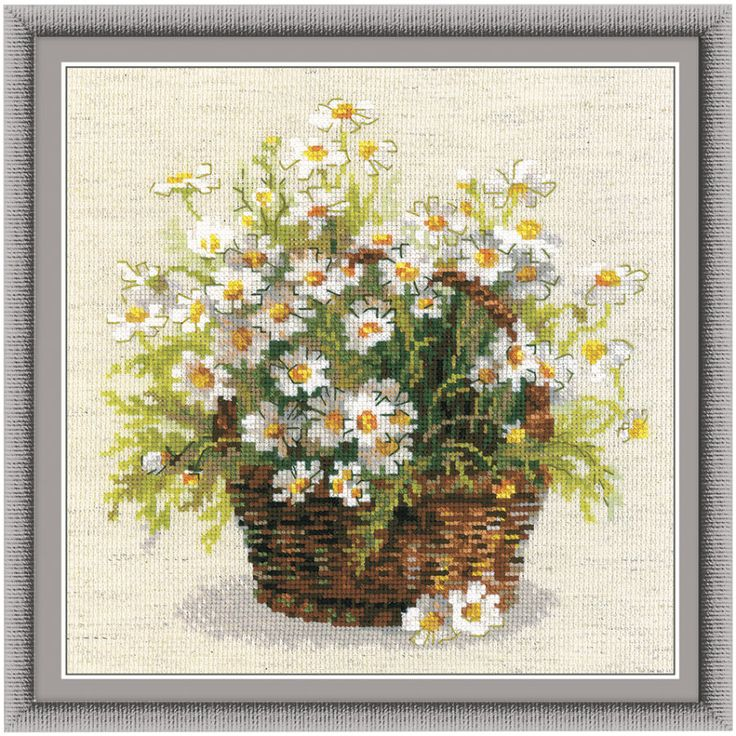 Marguerite Daisies Counted Cross Stitch Kit - Cross Stitch, Needlepoint, Embroidery Kits – Tools and Supplies