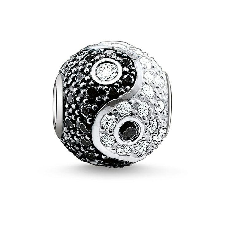 Thomas Sabo Silver Cubic Zirconia Pave Yin-Yang Bead  £89.00