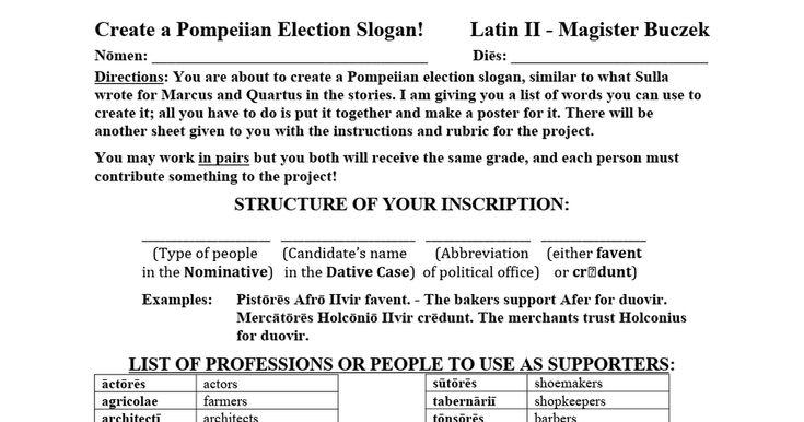 Create a Pompeiian Election Slogan.docx