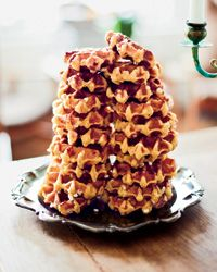 Liège Waffles: Malin Elmlid bartered her bread for Belgian pearl sugar, the key ingredient in these Liège-style waffles: The smooth balls of sugar add pops of sweetness and caramelize to make the exterior crisp. Elmlid sometimes flavors her waffles with saffron, but the vanilla-scented ones here are more traditional.