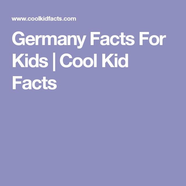 Germany Facts For Kids | Cool Kid Facts