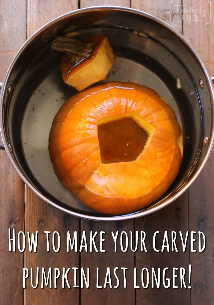 How to Preserve a Carved Pumpkin with 3 Household Items
