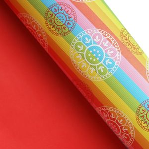 Rainbow Wrapping Paper & Korean Traditional Patterns Printed   morecozy