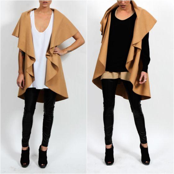 Surafina drape vest tank knit and leggings