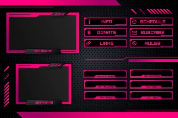 Download Twitch Stream Panels for free in 2020 | Overlays ...