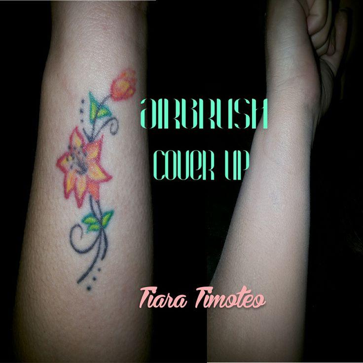 Cobertura da minha tatuagem feita com aplicação de airbrush.