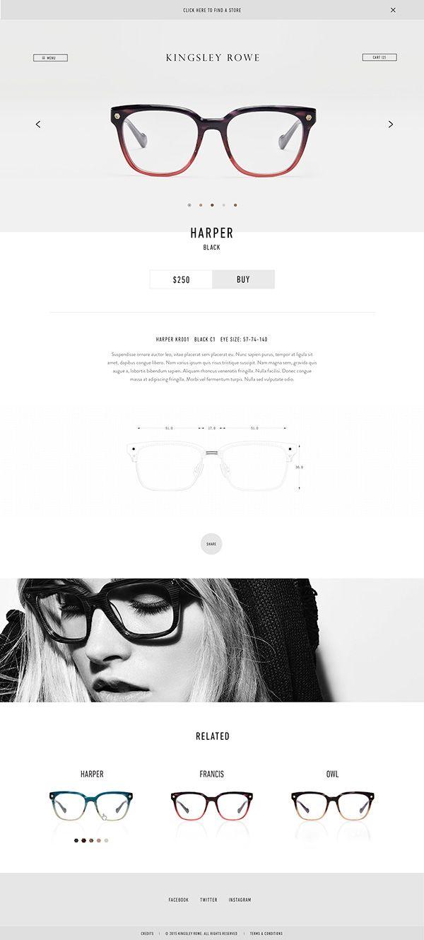 Kingsley Rowe on Behance #web #webdesign #design #layout #grid #ecommerce