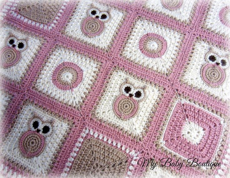 Looking for your next project? You're going to love  X n' O's Owl  Baby Blanket by designer MyBabyBoutique.