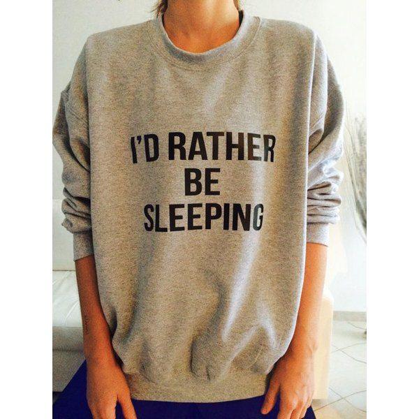 $11.99 Women's Long Sleeve Round Neck Letter Pattern Sweatshirt