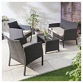 Marrakech 4-piece Rattan Garden Furniture Set