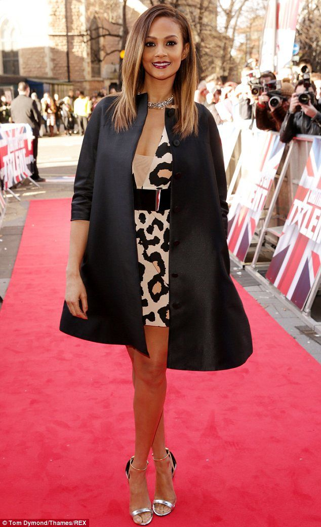 Looking good: Alesha Dixon arrives at Hammersmith Apollo in London for Britain's Got Talent auditions on Thursday