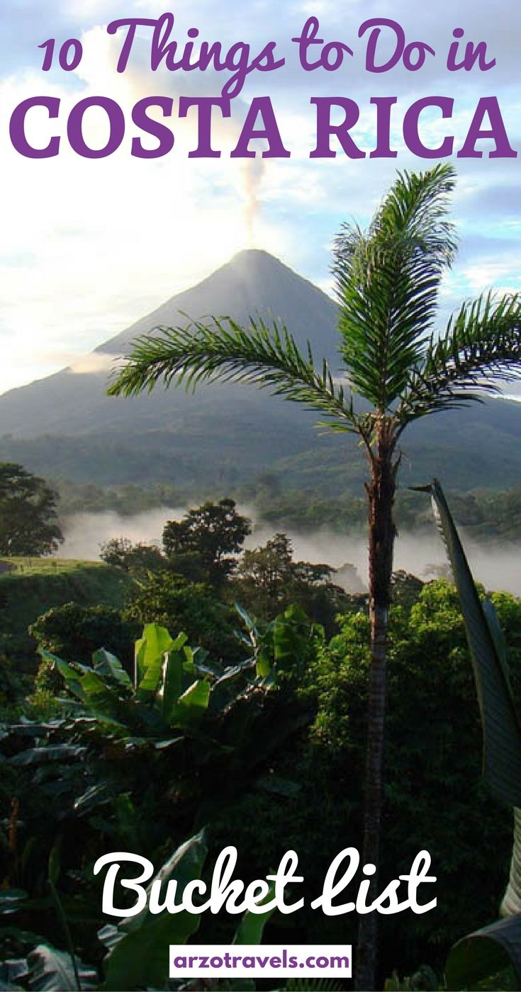 Top 10 things to do in Costa Rica- my bucket list for this beautiful country. Things to do and see in Costa Rica.