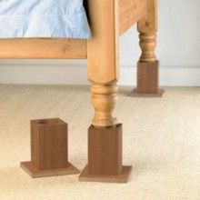 Wooden Bed Raisers about $70 USD