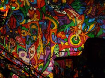Night Projection fényfestés - Y produkció - Tárnok katlan