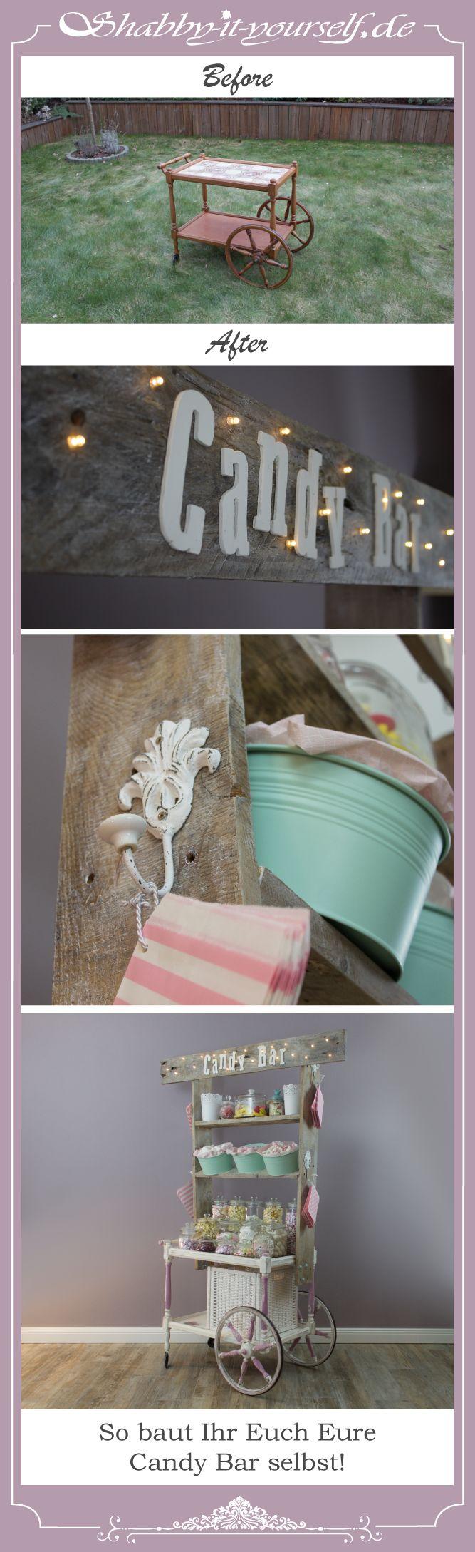 Build your own Vintage Wedding Candy Bar! Give your sweets a shabby chic place to be! :) Ich zeige Euch, wie ich aus einem alten Servierwagen meine eigene Candy Bar gebaut habe. Besucht meine Seite, folgt mir und lasst Euch von immer neuen Projekten inspirieren! Follow me and get inspired! Webseite: http://www.shabby-it-yourself.de/ Facebook: https://www.facebook.com/shabbyityourself Instagram: https://www.instagram.com/shabbyityourself/