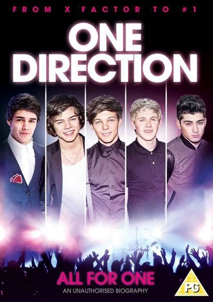 """This DVD """"All For One"""" is an unauthorized biography of Harry, Liam, Louis, Niall, and Zayn's beginnings on X-Factor all the way to reaching global fame. True Directioners will be adding this to their collection of all things One Direction. Directioners certainly have a lot to look forward to this fall!"""