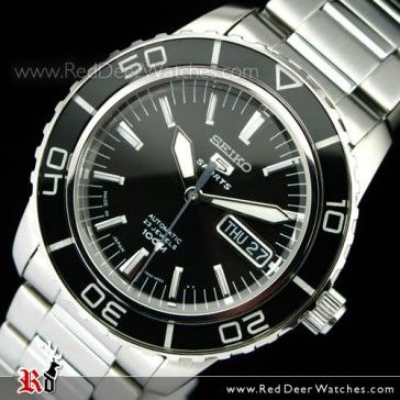 BUY Seiko Mens Automatic Hardlex Crystal Black SNZH55J1 Made in Japan - Buy Watches Online | SEIKO Red Deer Watches