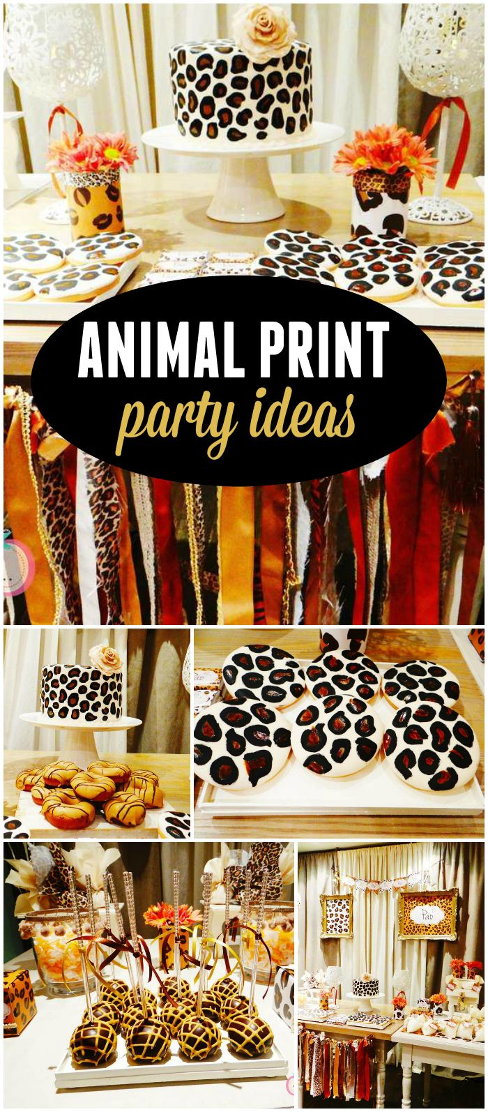 "What a ""wild"" party! Lots of different animal prints! See more party ideas at CatchMyParty.com!"