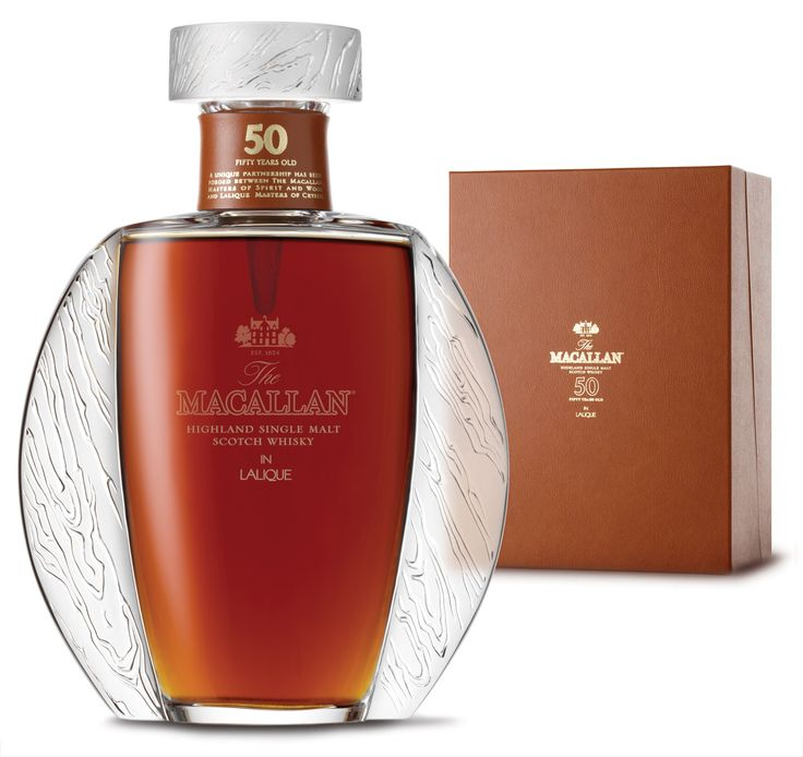 LALIQUE - MACALLAN   The Macallan 50 year old in a Lalique bottle