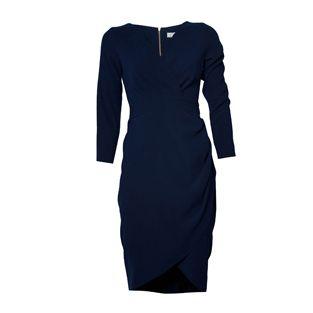 Closet Navy Crossover Dress