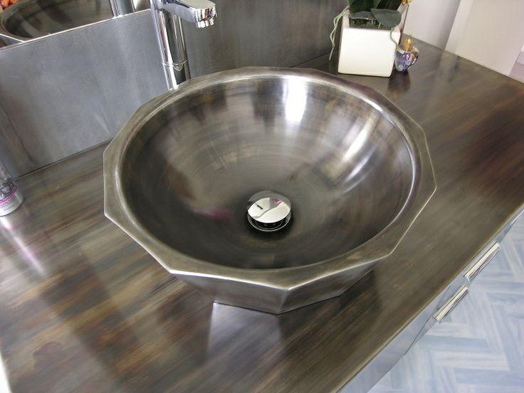 vasque en zinc lavabo artisan cr ateur de produits indoor et oudoor en zinc je r alise. Black Bedroom Furniture Sets. Home Design Ideas