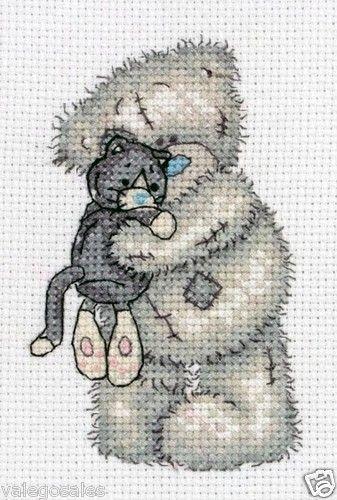 Anchor Counted #crossstitch #TATTYTEDDY CUDDLY #CAT ♥ #ebay #sale #gift #home #interior #walldecor #kids #teens #create #DIY #project #handcraft #handmade #needlework #stitching #craft #decoration #teddybear