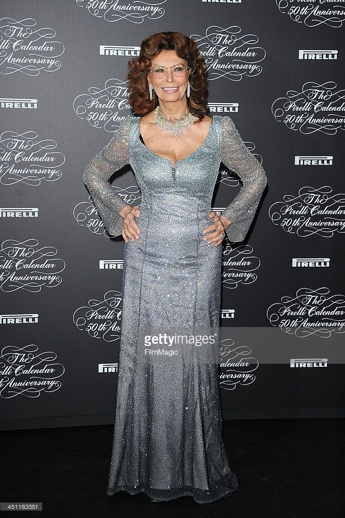 Sophia Loren attends The Pirelli Calendar 50th Anniversary - Red Carpet on November 21, 2013 in Milan, Italy.