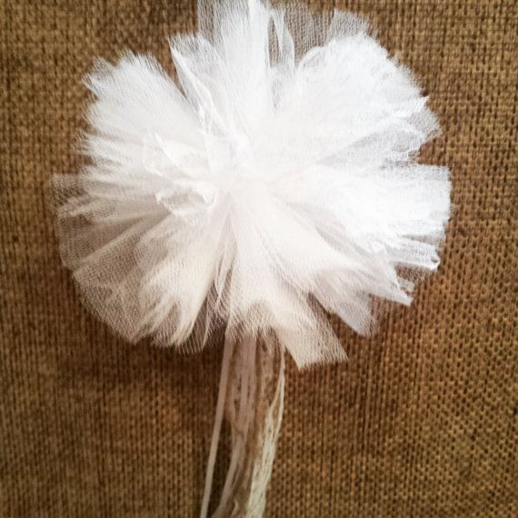 Pon pon tulle wedding decoration/flavor gift by Jimmywhoo on Etsy