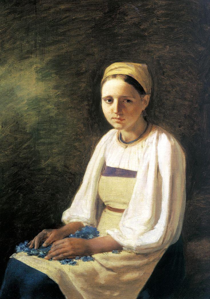 Venetsianov Chłopka z chabrami 1820