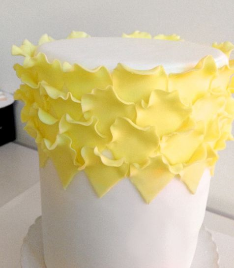 How to Make an Ombre Ruffle Cake Using Fondant