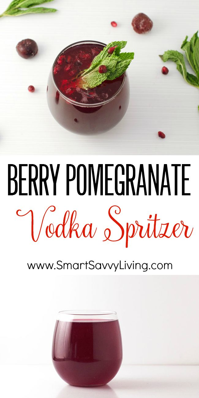 Berry Pomegranate Vodka Spritzer Recipe | This easy Christmas drink recipe is so festive looking for xmas, not to mention super quick to make. #SparklingHolidays AD